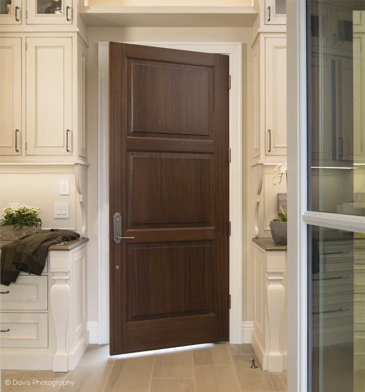 Traditional Interior Three Panel Kitchen Door