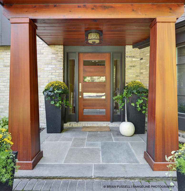 ... Entrance With Contemporary Fir Front Door Porch With Exterior French ... Part 72