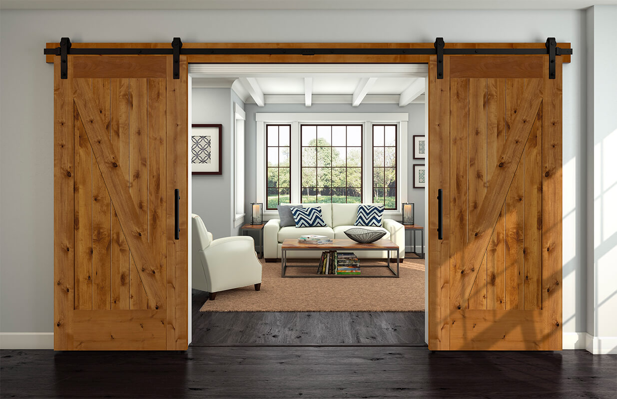 80812 In Knotty Alder Interior Barn Door