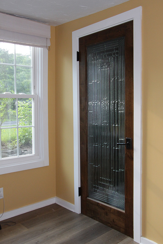 Lovely Interior French Door With Decorative Glass ...