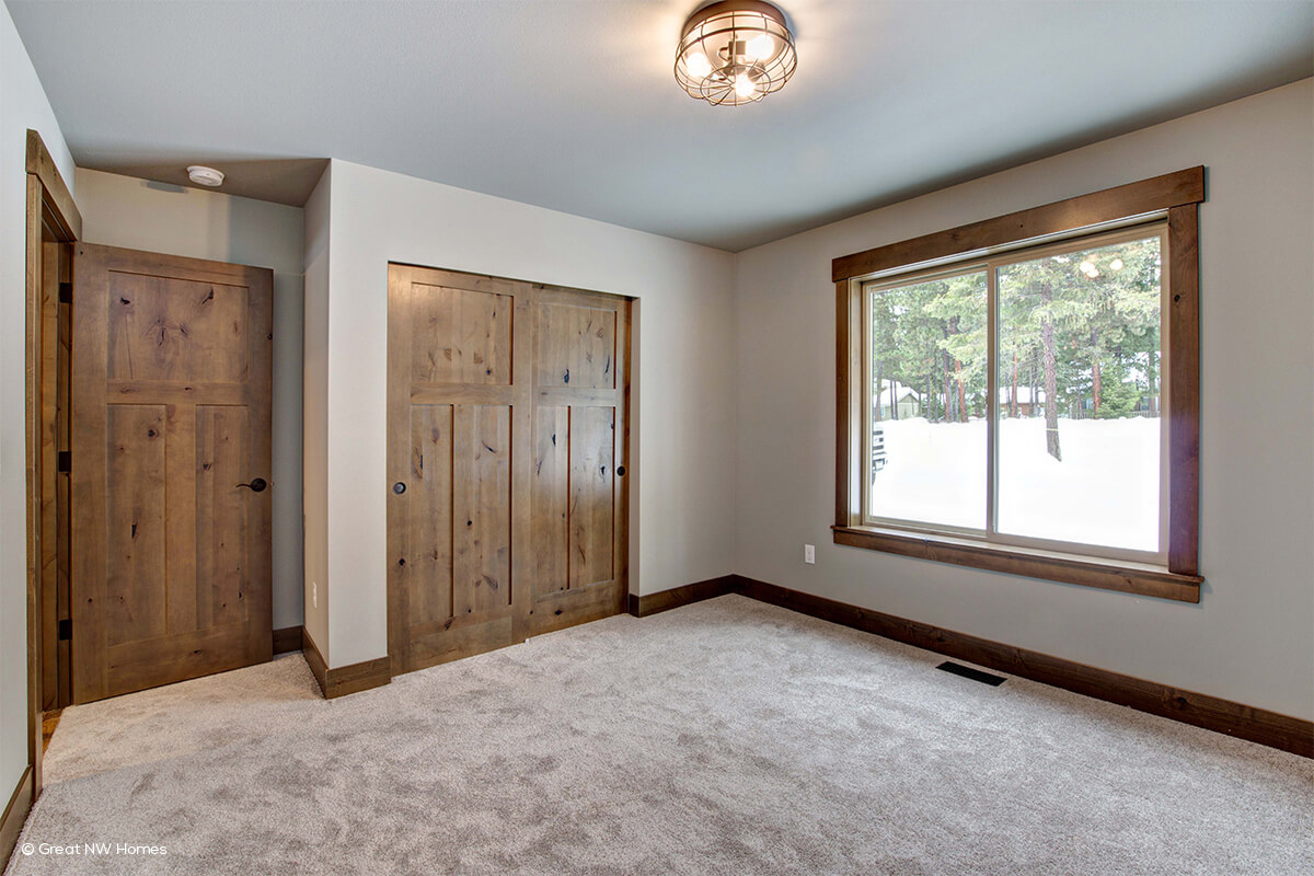 bedroom with knotty alder interior doors - Interior Doors