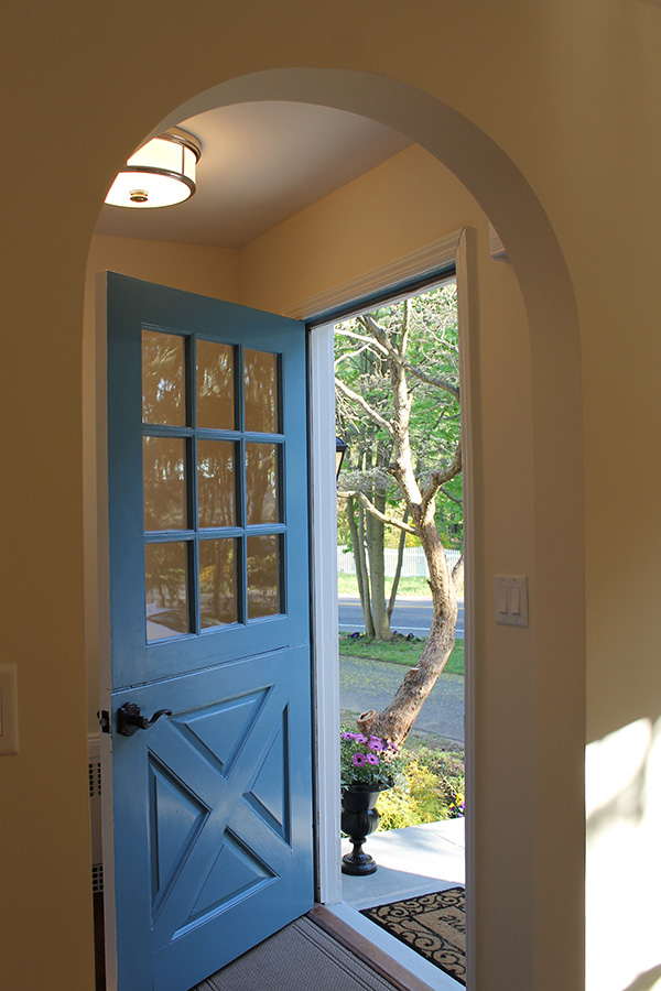... Front Door And Sidelights Entryway With Wood Dutch Door ...