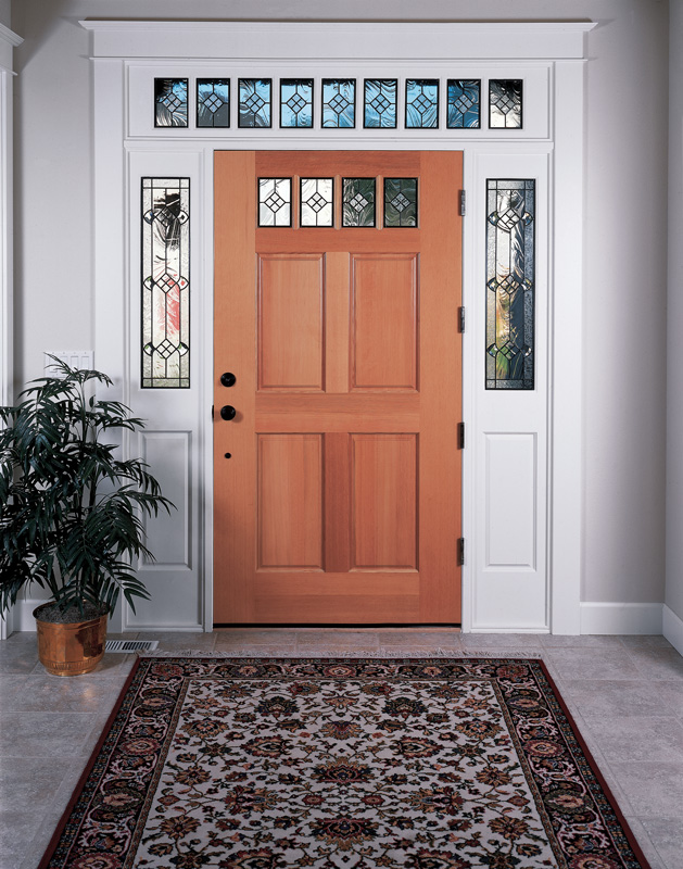 ... Wood Entry Door With Glass ...