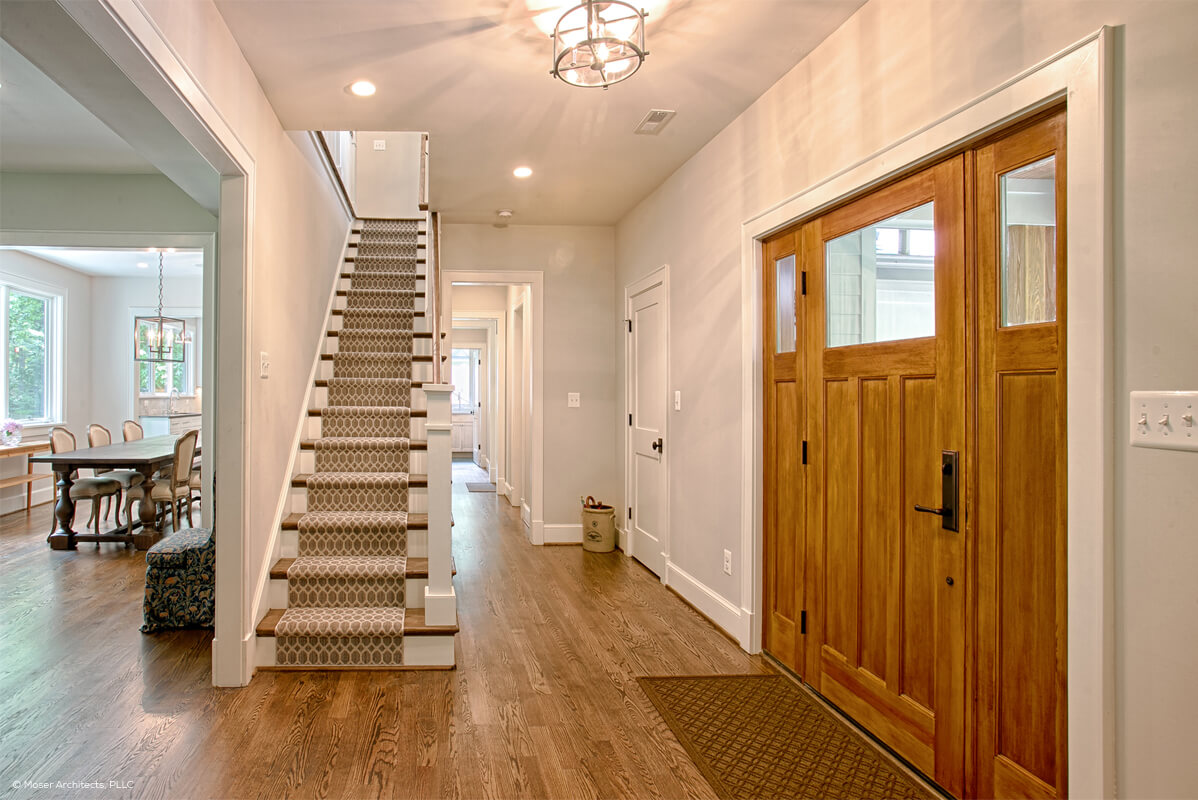 Entryway With Contemporary Front Door Entryway With Fir Front Door And  Sidelights ...