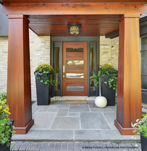... Entrance With Contemporary Fir Front Door ...