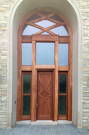 ... Entryway with custom sapele mahogany door ... & Door Idea Gallery | Door Designs | Simpson Doors