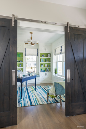 ... Den With Interior Barn Doors ...