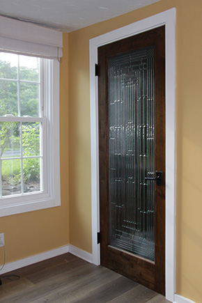 Interior French Door With Decorative Glass ...