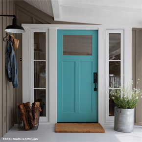 ... Entryway With Wood Front Door ...