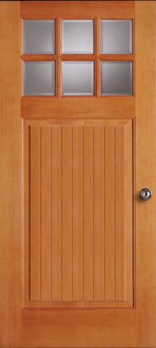 Bungalow series wood doors simpson door company for Simpson doors glass