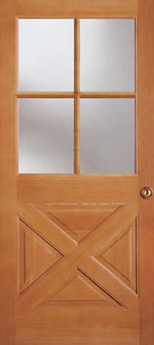 9 Lite Crossbuck Door : Crossbuck entry door exterior lite panel