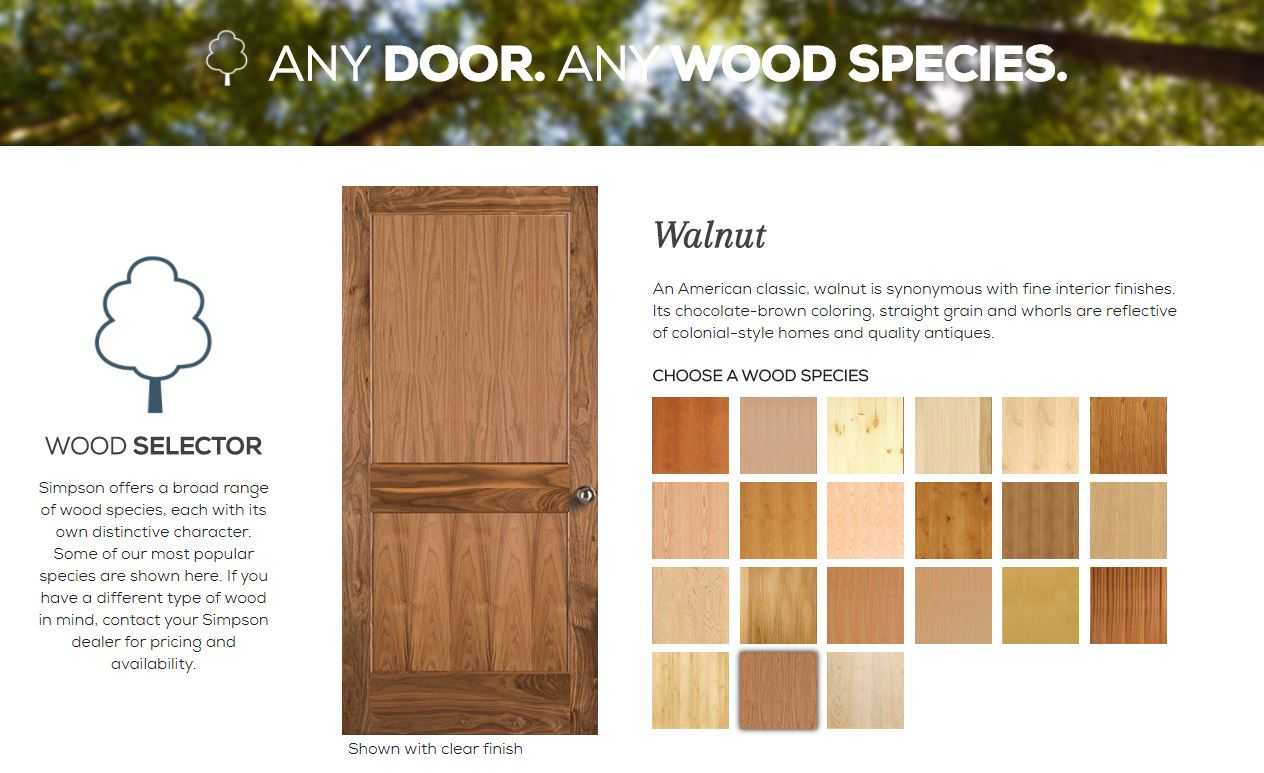 Wood Species Selector