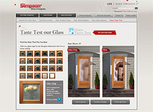 Standard Door Designs And  Different Standard Glass Options Simpson Door Company Is Known For Providing Customers A Wide Selection Of Design Choices