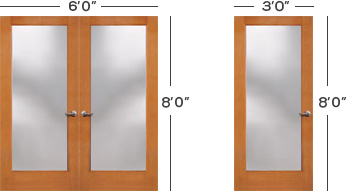 Min Fire Glass Door